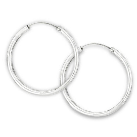 Sterling,Silver,Tube,Endless,Hoop,Earrings,wide,3,mm,x,50