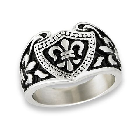 Fleur-de-lis,Ring,Detailed,Artisan,designed,Fleur-de-lis Ring, Renaissance jewelry, Detailed casting, Artisan designed, solid Stainless Steel, French Jewelry Design, stainless steel Jewelry, stainless steel rings