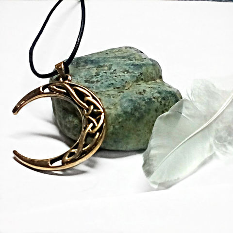 Bronze,Celtic,Moon,Weaver,Pendant,Celestial,Amulet,Symbolic,Solid Bronze Jewelry, Gold Celtic Pendant,, Celtic Pendant, Celtic jewelry, Druid Magic, Bronze Moon Pendant, New Moon Pendant, ndant, lead free pewter, sacred moon amulet, Pagan legends, Celtic Knotwork, Celtic Charms, Goddess jewelry,  silvermoongalleri