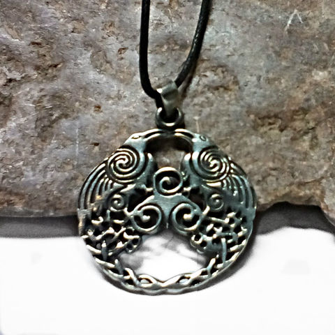 Twin,Raven,Magic,Pendant,Celtic,Amulet,Two,Ravens,-,ODIN,Blackbirds,with,Swirling,Newgrange,Spirals,Double Raven Necklace, Twin Raven Magic, warrior goddess, Morrighan, Odin, Blackbirds, Raven Pendant, Pewter PendantCeltic Raven, Celtic Raven pendant, Newgrange spiral, Nordic Jewelry, Pagan Wiccan, Magic Symbol, SCA, Historical costumes, Symbolic Amulet