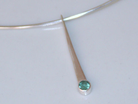 Wedge,Pendant,Jewelry,Metalwork,sterling_silver,silver_pendant,long_pendant,blue_green,teal_tourmaline,sea_foam_green,forged_silver,beatriz_fortes,eco_friendly,october_birthstone,contemporary_jewelry,tourmaline_pendant,silver_necklace,sterling silver,blue green