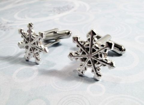 Snowflake,Cuff,Links,,Cufflinks,,snow,flake,winter,silver,wedding,snowflake cufflinks, cuff links, snow flake, winter, cold, hiver, flocon de neige, christmas, noel, jewelry, seasonal, silver, snow, north pole, winter wedding, cscharms, cs charms, etsy