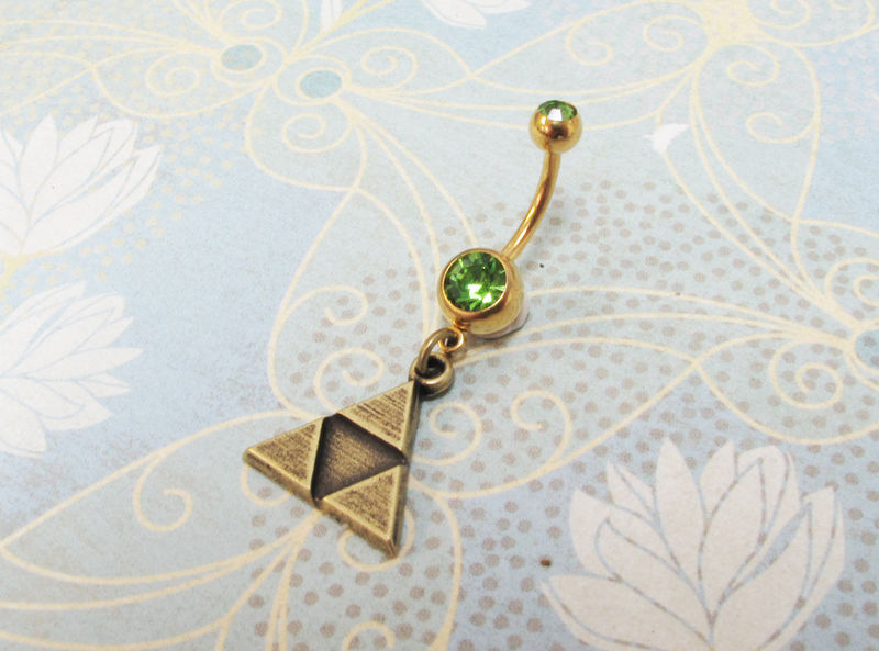 Triangles Belly Ring Navel Ring Inspired By The Triforce From Zelda