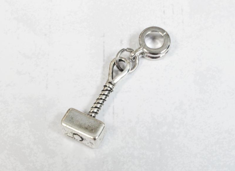 mini hammer charm for european bracelets inspired by thor