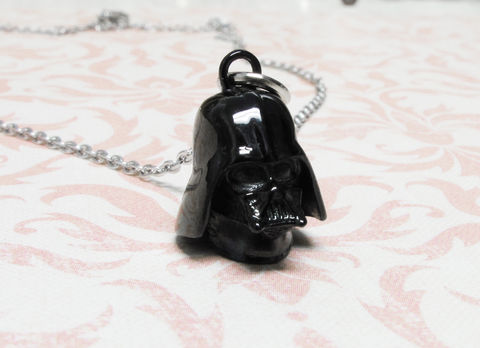 Star,Wars,Darth,Vader,Necklace,star wars, darth vader, necklace, helmet, pendant, charm, black, stainless steel, surgical steel, geeky, geek chic, tween, teen gift