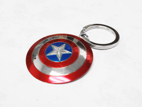 Captain,America,Shield,Keychain,captain america, shield, keychain, key chain, metal, color, avengers, keyring