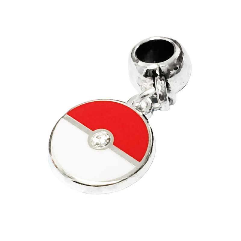 Pokéball Fine Silver Plated Bracelet Charm - product images  of