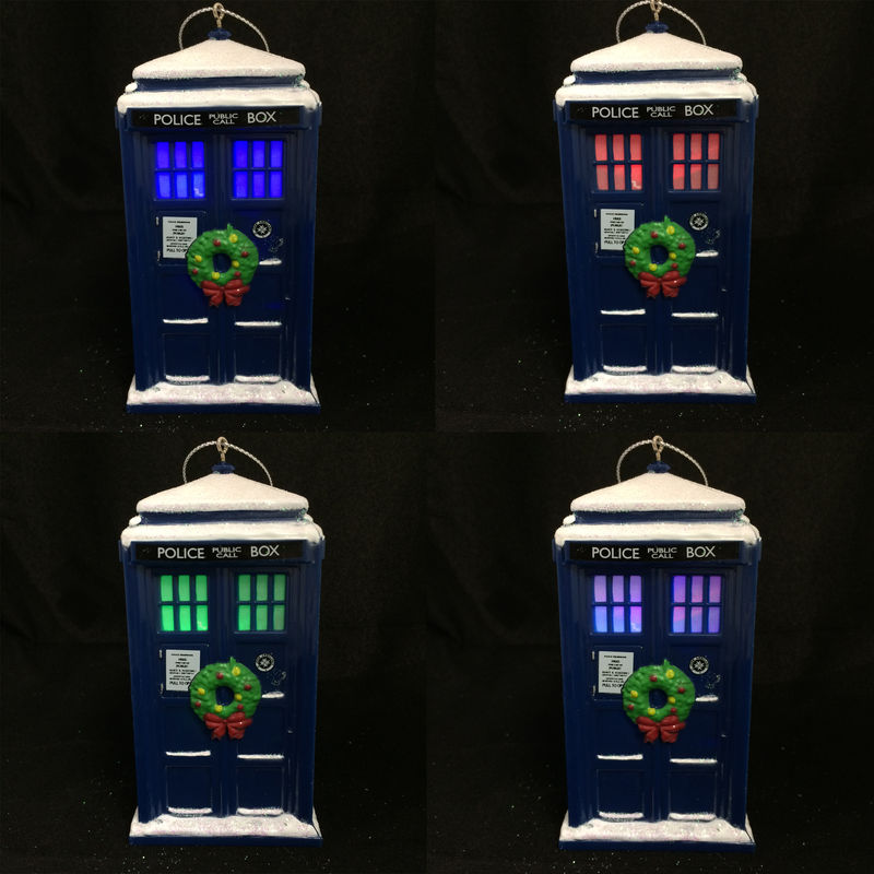 Doctor Who TARDIS with Wreath Christmas Ornament - product images  of