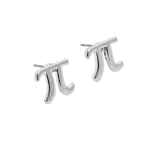 Little,Silver,Pi,Studs,,earrings,math,science,silver,small,Pi earrings, studs, pie, math, silver, science, geek, nerdy, geek chic, 3.14, pi day, small