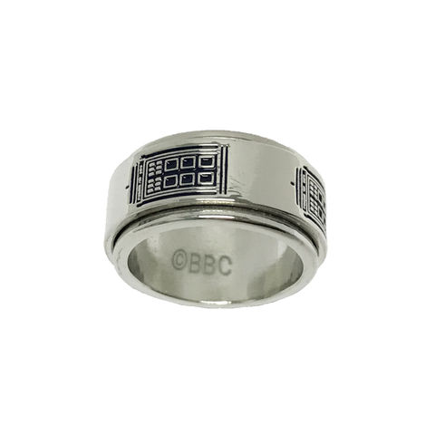 Doctor,Who,TARDIS,Spinner,Ring,doctor who, tardis, TARDIS, ring, spinner ring, T.A.R.D.I.S. woman doctor, female doctor, dr who