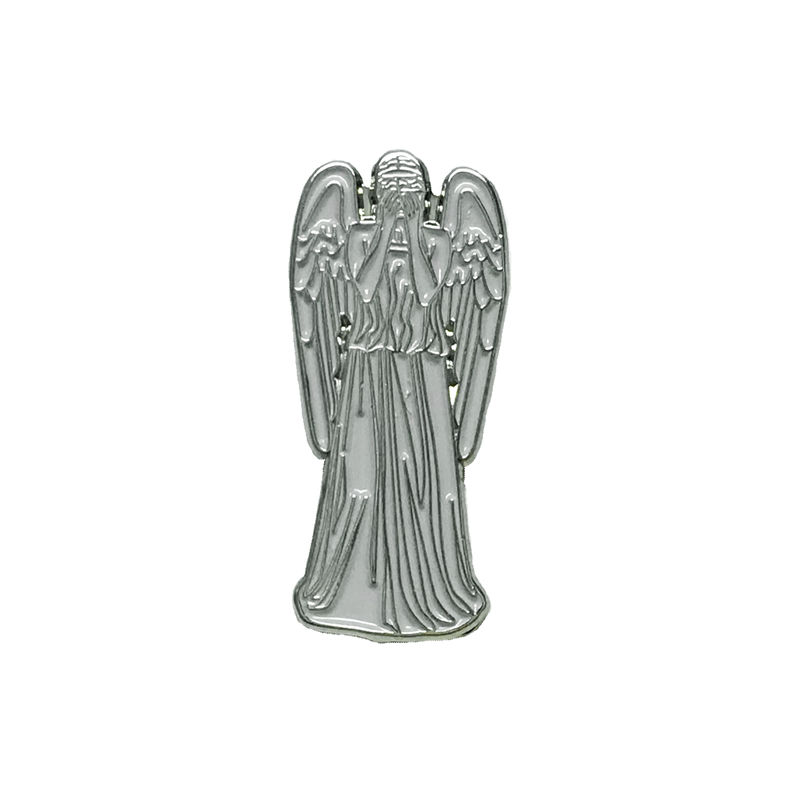 Weeping Stone Angel Enamel Pin - product images  of