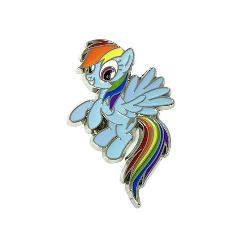 My,Little,Pony,Rainbow,Dash,Enamel,Pin,my little pony, mlp, rainbow dash, enamel pin, heavy duty, kids, strong, backpack pin, hat pin, ponies