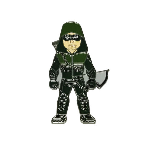 Green,Arrow,Character,Enamel,Pin,green arrow, arrow, tv series, enamel pin, oliver queen, the hood, color pin, metal pin, badge, DC comics