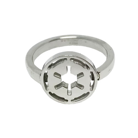 Star,Wars,Empire,Symbol,Ring,star wars, ring, ladies, womens, empire, emperial, symbol, stainless steel, geeky, silver