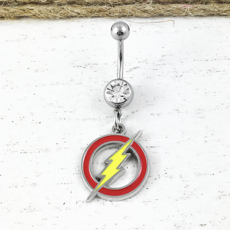 Flash Symbol Belly Button Ring