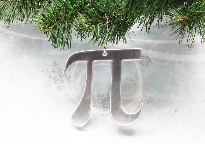Pi Christmas Tree Ornament, math symbol pie geek science decoration - product images  of