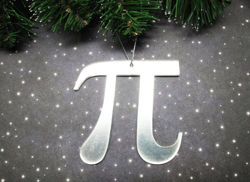 Christmas Decorations To Make In Maths : Pi christmas tree ornament math symbol pie geek science