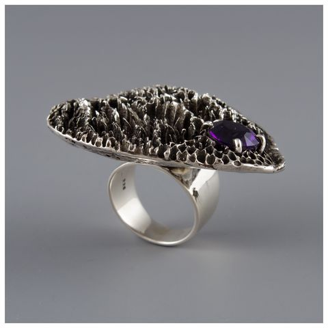 Luemba,Ring,Sterling silver ring,  Ndau collection, Tree fungi theme ring, the Malcolm Ainscough collection, rainforest