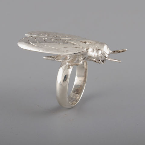 Sterling,Silver,Large,Cicada,Ring,Sterling Silver, Large, Cicada, Ring