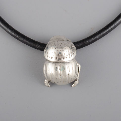 Sterling,Silver,Small,Dung,Beetle,Pendant,sterling silver, jewelry, jewellery, ndau, ndau collection, dungbeetle, beetle, zimbabwe, africa, victoria falls, handmade, pendant