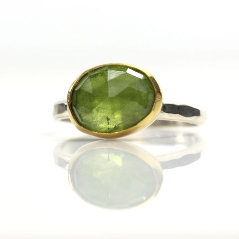 Rose,Cut,Peridot,Stacking,Ring,unique handcrafted jewelry, handcrafted artisan jewelry, unique gemstone jewelry, unique stone jewelry, handmade rose cut peridot ring, rose cut peridot stacking ring, rose cut peridot ring, August birthstone,