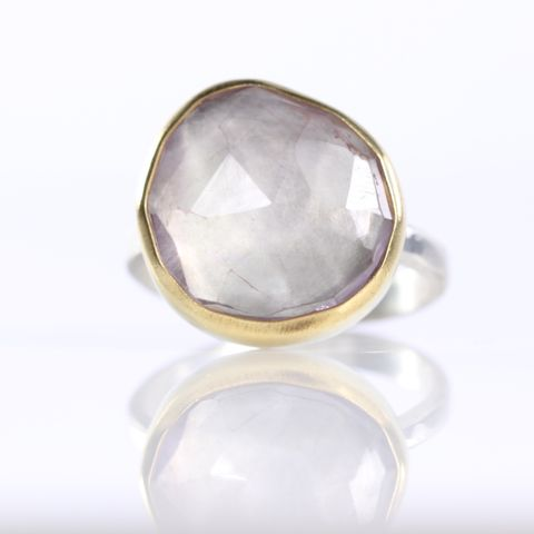 Rose,Cut,Lavender,Amethyst,Ring,Jewelry,Jewel,rose_cut,lavender,amethyst,ring,amethyst_ring,handmade,jewelry,New_Orleans,lilac,pale_purple,stacking_ring,rose_cut_stone,rose_cut_amethyst,sterling silver,22k,gold