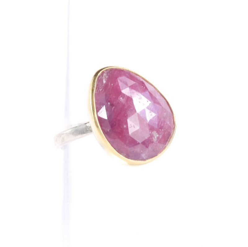 Rose Cut Pink Sapphire Ring - product images  of