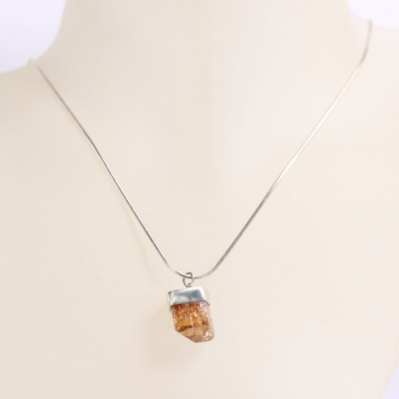 Raw Topaz Crystal Pendant - product images  of