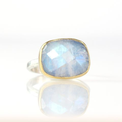 Rose,Cut,Rainbow,Moonstone,Ring,-,Stackable,Jewelry,Jewel,rose_cut,square,rainbow_moonstone,ring,jewelry,handmade,New_Orleans,moonstone,intuition,lovers,good_fortune,inspiration,rainbow moonstone,sterling silver,22K,gold