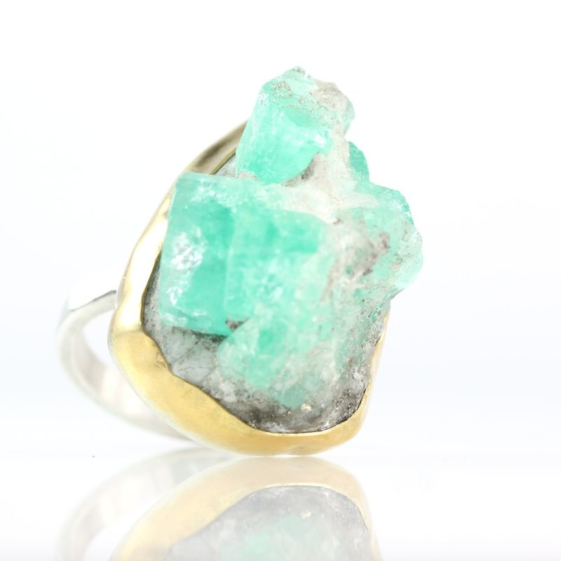 Emerald Crystal Specimen Ring - product images  of