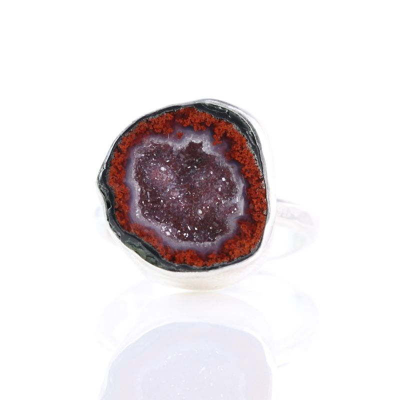 Baby Red Geode Ring - product images  of