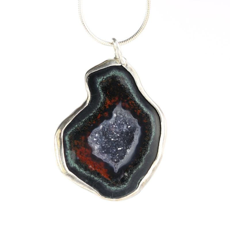 Red Geode Pendant - product images  of