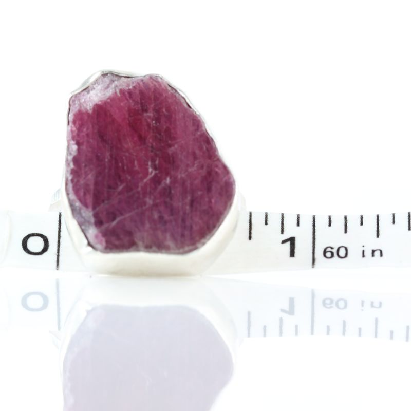 Raw Ruby Slice Ring - product images  of