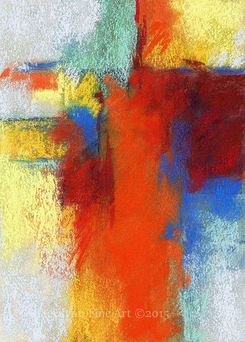 Attraction,Abstract, abstract pastel, pastel art, abstract mixed media, abstract pastel mixed media, red, blue, yellow