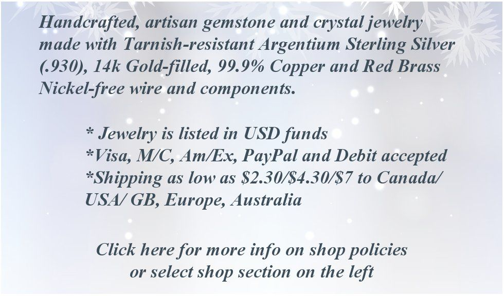 Crystal Jewelry Shop Policies