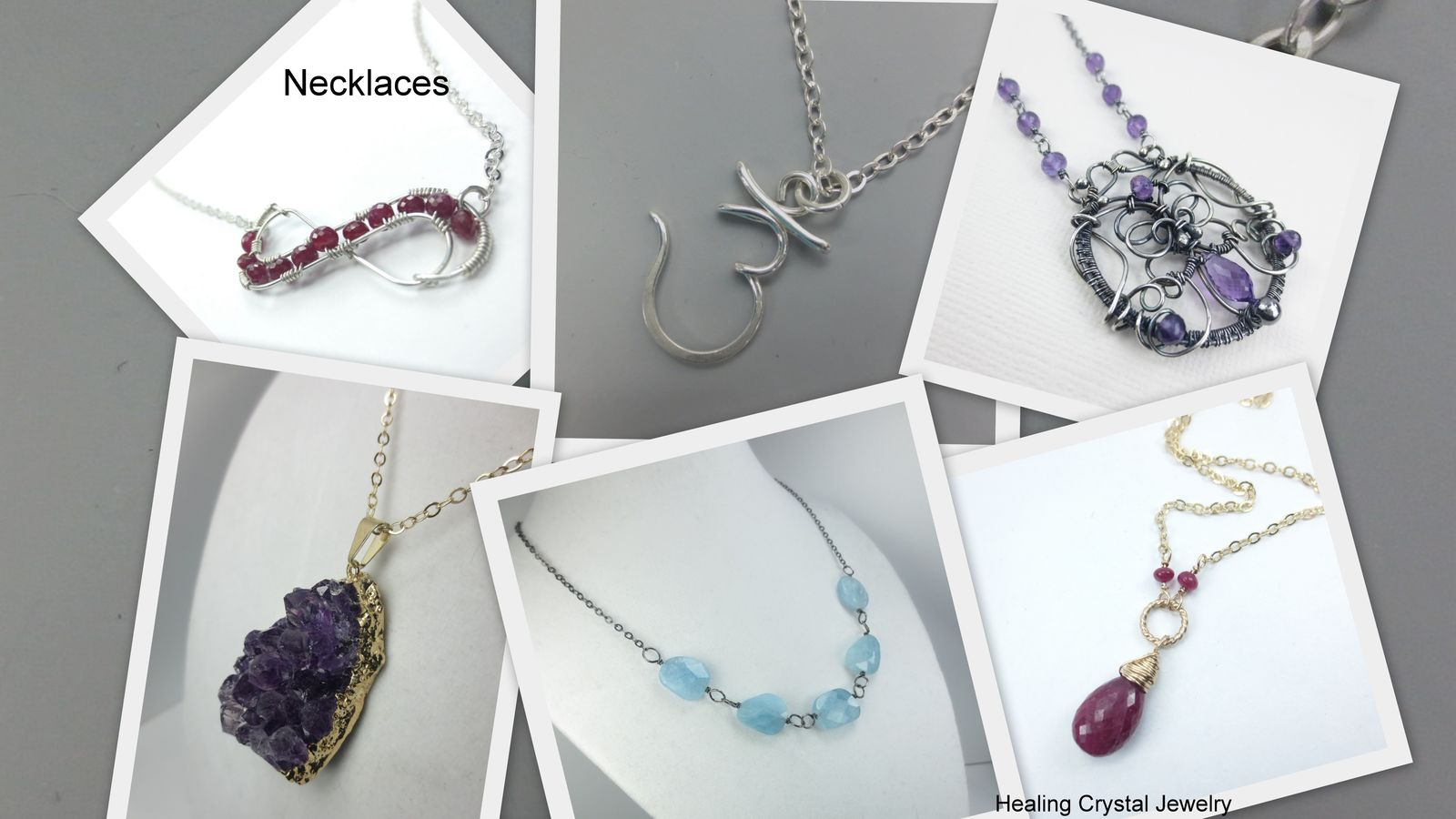 Healing Crystal Jewelry Gemstone necklaces