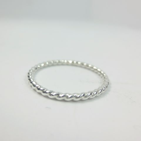 Twisted,Stacking,Ring,in,Argentium,Sterling,Silver,,16,Gauge,1.3mm,stack rings, argentium sterling ring, knuckle rings, thin stack ring, minimalist, textured ring