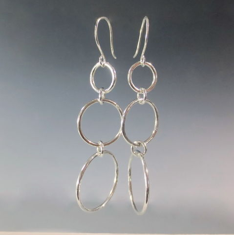 Long,Argentium,Silver,Earrings,,Hypo,Allergenic,,Nickel,Free,2.5 long earrings, long argentium silver earrings, long silver arrings, Sterling hoop earrings,   argentium sterling  earrings,hypo allergenic earrings, nickel free  earrings, eco friendly earrings, recycled silver earrings,  large hoop earrings, large s