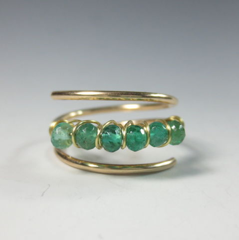 Ombre,Emerald,Ring,in,14k,Gold-Fill, Multistone Ring,  birthstone jewelry,  adjustable ring,  birthstone ring,  anniversary gift,  emerald, emerald ring, gold emerald ring  may birthstone,  may birthstone ring , emerald jewelry,  ombre ring, emerald birthstone , 25th anniversary