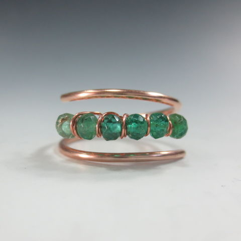 Ombre,Emerald,Ring,in,14k,Rose,Gold-Fill, Multistone Ring,  birthstone jewelry,  adjustable ring,  birthstone ring,  anniversary gift,  emerald, emerald ring, rose gold emerald ring  may birthstone,  may birthstone ring , emerald jewelry,  ombre ring, emerald birthstone , 25th anniversary