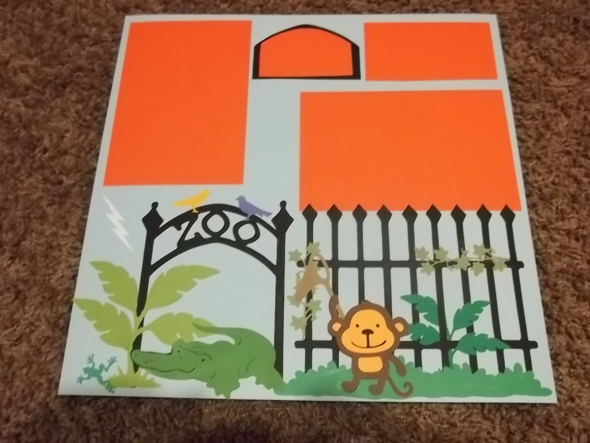 Scrap book pages - Zoo Monkey Scrapbook Page
