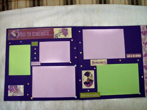 Day,to,remember,premade,scrapbook,page,floral, scrapbook