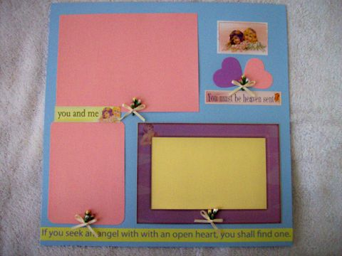 Angel,premade,scrapbook,page