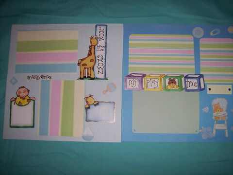 Look,me,grow,&,playtime,scrapbook,page, baby, child