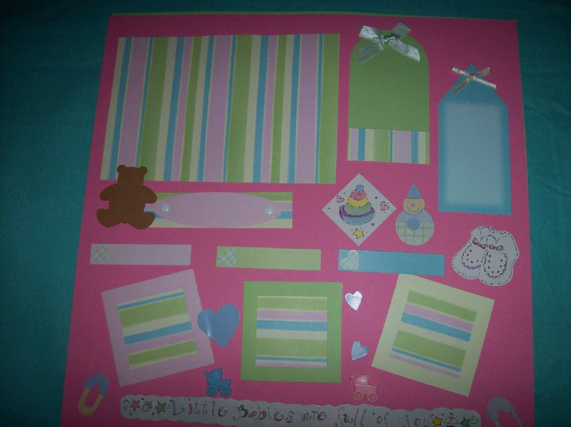 Babies are Joy scrapbook page - product images  of