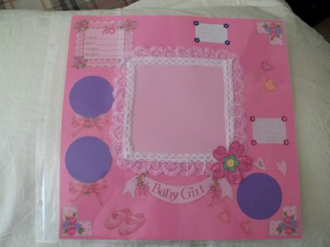 Baby,girl,welcome,scrapbook,page,baby, child, newborn, girl, scrapbook