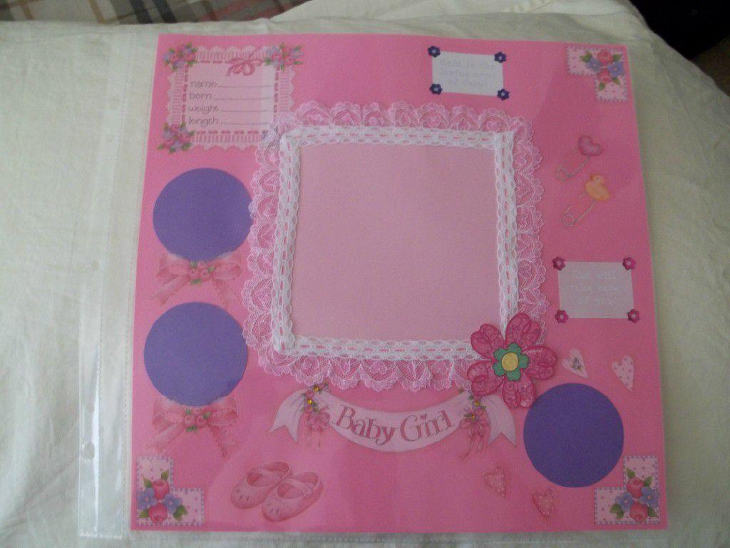 Baby girl scrapbook ideas - Baby Girl Welcome Scrapbook Page