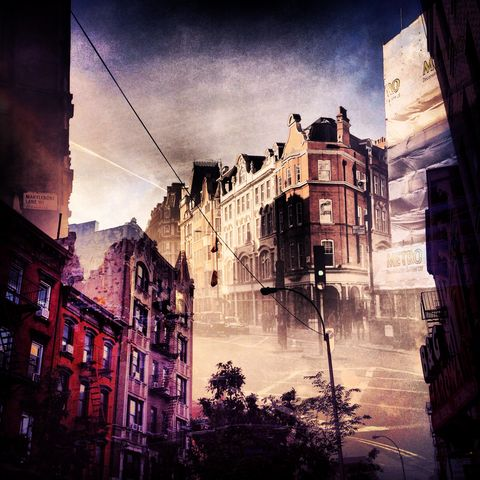 New,York,+,London,No.,18,photograph, double exposure, new york, london