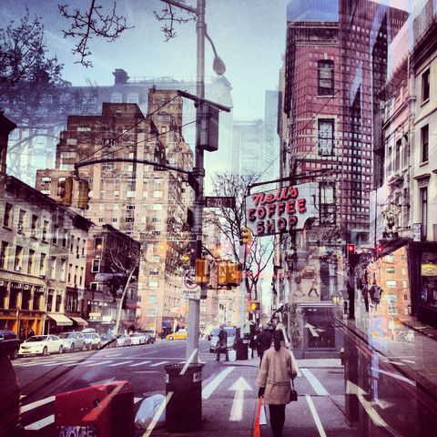 New,York,+,London,No.,42,photograph, double exposure, new york, london
