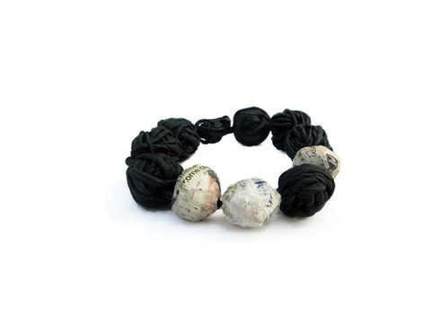 NEWS,AND,PAPER,-,bubbles,collection,beaded bracelet, paper bracelet, contemporary jewelry, contemporary paper jewelry, handmade jewelry